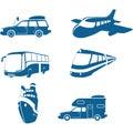 Transport & Travel icons Stock Image