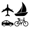 Transport vector icons set isolated on white Stock Photography