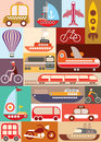 Transport vector illustration transportation mode of Stock Photography