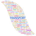 Transport word cloud concept illustration wordcloud collage Royalty Free Stock Image