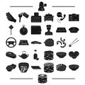 Transportation, accessories, machinery and other web icon in black style.treat, restaurant, profession, icons in set