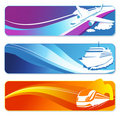 Transportation banners set Stock Photo