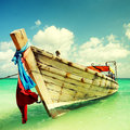Transportation boat Thailand. Royalty Free Stock Image