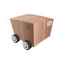 Transportation box with wheels illustration of a Stock Image