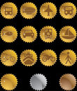 Transportation Buttons - gold seal Stock Images