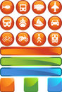 Transportation Buttons - Round Stock Photos