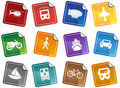 Transportation Buttons - Sticker Stock Images