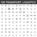 Transportation, car, logistics, vehicle, public transport, bus, tram, ship, shipping, auto service, truck line icons