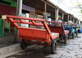 Transportation carts colorful on market in manado north sulawesi indonesia Stock Photography