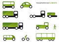 Transportation clipart set Royalty Free Stock Image