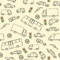 Transportation doodle Royalty Free Stock Photo