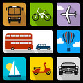 Title: Transportation flat icons