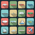 Transportation flat vector icons Royalty Free Stock Image