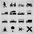 Transportation icon basic in the world Royalty Free Stock Photo