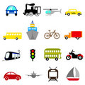 Transportation icon set Royalty Free Stock Image
