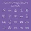 Transportation icon set. Royalty Free Stock Photo