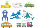 Transportation icons Royalty Free Stock Photos
