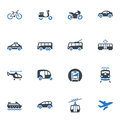 Transportation Icons - Blue Series Royalty Free Stock Images