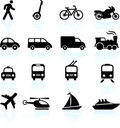 Transportation icons design elements Royalty Free Stock Image