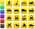 Transportation icons design elements Stock Photos