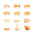 Transportation icons | JUICY series Royalty Free Stock Images
