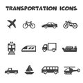 Transportation icons mono vector symbols Royalty Free Stock Photography
