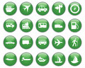 Transportation icons set Stock Photography