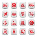 Transportation icons set Royalty Free Stock Images