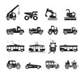 Transportation icons set authors illustration in vector Stock Image