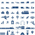 Title: Transportation icons set