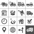 Title: Transportation icons set. Simplus series