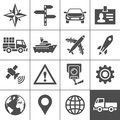 Transportation icons set simplus series vector illustration Royalty Free Stock Photo