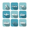 Transportation icons set vector illustration Stock Photo
