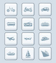 Transportation icons | TECH series Royalty Free Stock Photography