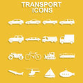 Transportation icons. Vector