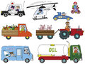 Transportation illustration of funny cartoon Stock Images