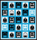 Transportation mosaics Royalty Free Stock Images