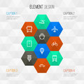 Transportation Outline Icons Set. Collection Of Aircraft, Balloon, Train And Other Elements. Also Includes Symbols Such