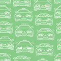 Transportation pattern vector seamless baby boy with different cars Royalty Free Stock Image