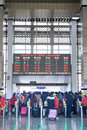Transportation peak in spring festival holiday begins nannin china january passengers at railway ticket gates the nanning railway Royalty Free Stock Images