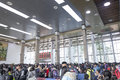 Transportation peak in spring festival holiday begins nannin china january passengers waitting hall the nanning railway station Royalty Free Stock Image