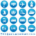 Transportation progress icons Stock Photo