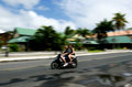 Transportation in rarotonga cook islands sep mature couple rides motorbikes on sep it s one of the must popular activity the Royalty Free Stock Image