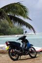 Transportation in rarotonga cook islands sep motorbike on the beach on sep it s one of the must popular activity the island but Stock Images