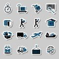 Transportation Services Stickers Collection Stock Photo