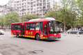 Transportation services in wuhan china april tram bus at city road Royalty Free Stock Photography