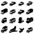 Transportation set Royalty Free Stock Photos