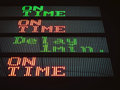 Transportation Signage board on time and delay Royalty Free Stock Photo