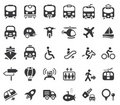 Transportation Vector Icons Royalty Free Stock Image