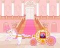 Transporte cor de rosa do conto de fadas Fotos de Stock Royalty Free